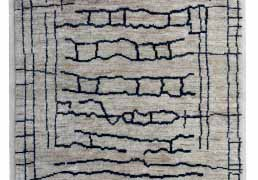 Gonsenhausers Jute Wool Berber Rug in Ladder Design