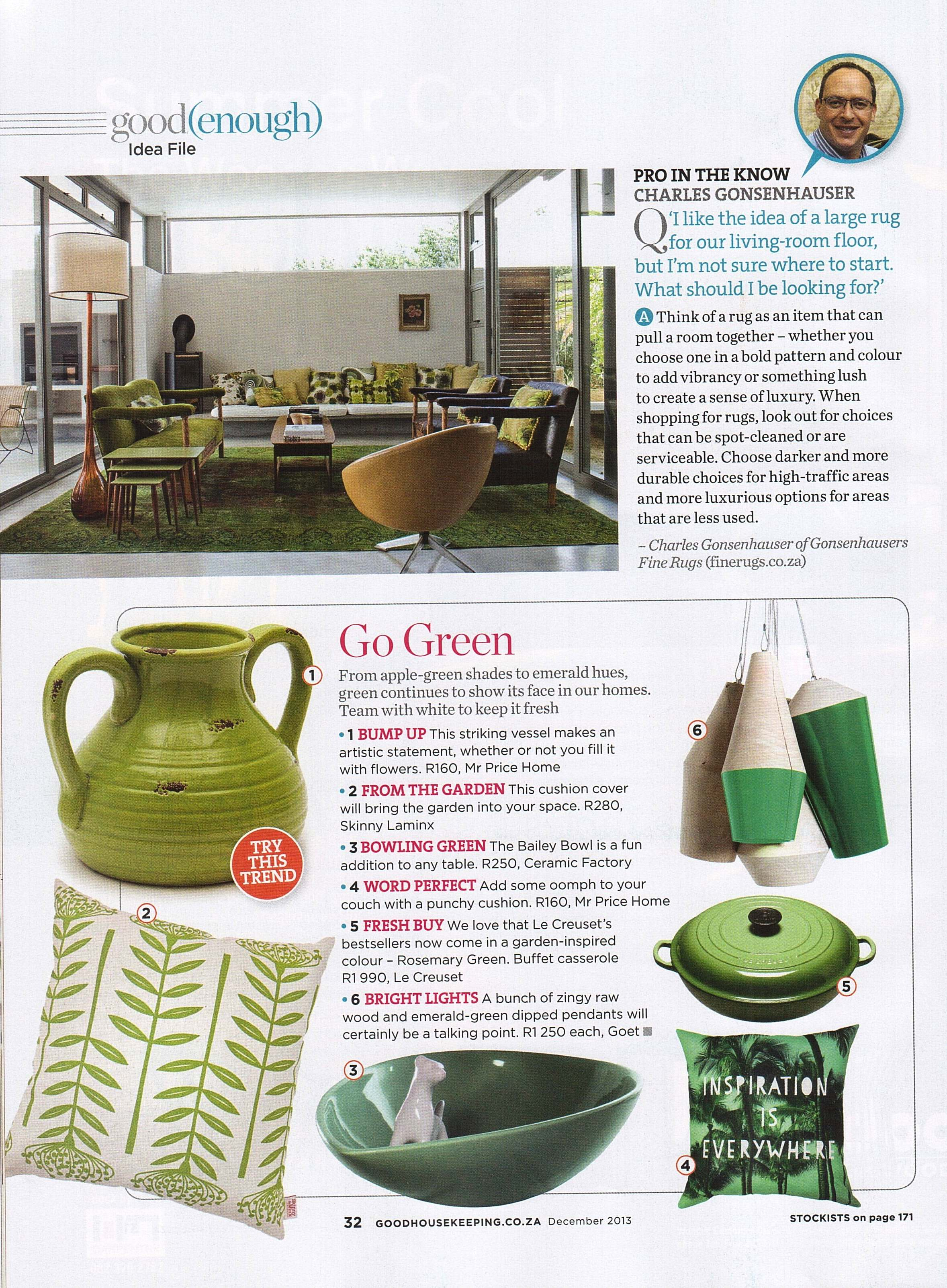 GONSENHAUSERS Good Housekeeping Dec 2013
